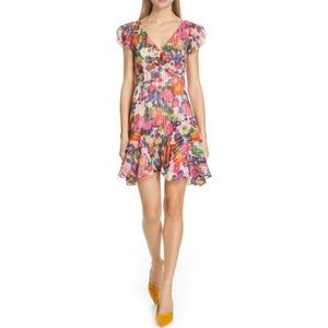 SALONI Catia Floral Print Silk Blend Mini Dress 2